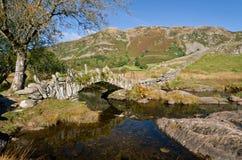 Slaters Bride and the fells. Slaters bridge near little langdale Cumbria Stock Photo