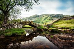 Slaters Bridge Lake District United Kingdom. Taken in 2017 taken in HDR Stock Photos
