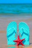 Slates on the beach Stock Photos