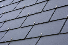 Slates on a roof royalty free stock images