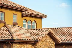 Slates Roof. Home Roof stock photography