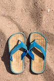 Slates on the sand beach Stock Image