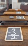 Slates on School Desks Royalty Free Stock Photography