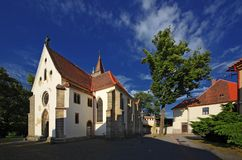 Slatinany -城堡教会02 图库摄影