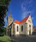 Slatinany -城堡教会01 图库摄影