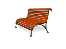 Slatted Park Bench Royalty Free Stock Images