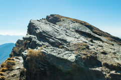 Slaty cleavage rock a peculiar type of sedimentary rock in mountain of Himalayas in Uttrakhand India. Stock Photography