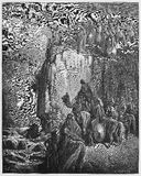 Slaughter of the Baal prophets. Picture from The Holy Scriptures, Old and New Testaments books collection published in 1885, Stuttgart-Germany. Drawings by Royalty Free Stock Photos