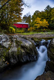 Slaughterhouse Covered Bridge - Northfield Falls, Vermont Royalty Free Stock Images