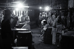 Slaughterhouse in saddar bazzar Karachi Stock Image