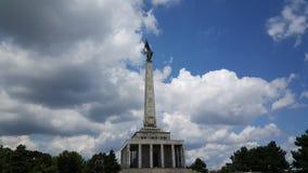 SlavÃn een monument in Bratislava stock afbeelding