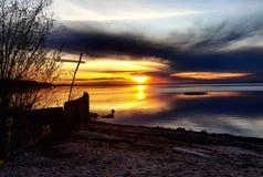 Slav- Lake Alberta Arkivbilder