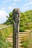 Slav sculpture at Kap Arkona, Ruegen Stock Photos