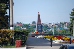Slava`s monument to the soldiers who have died in local wars. City of Syzran. Samara region. Russia Stock Photography