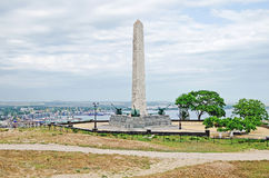 Slava's obelisk on the mountain Mitridat in Kerch Stock Photo
