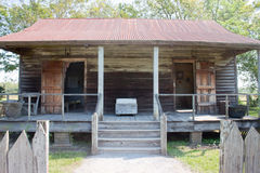 Slave Cabin. An old slave cabin on a plantation in Louisiana Royalty Free Stock Images