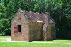 Slave cabins in Boone Hall Plantation. CHARLESTON SOUTH CAROLINA JUNE 28 2016: Slave cabins in Boone Hall Plantation in Mount Pleasant, the slave houses are stock photography