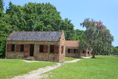Slave cabins Stock Photos