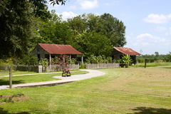 Slave Cabins. At the Laura Plantation which is on the River Road in Vacherie, LA Royalty Free Stock Photo