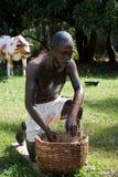 A slave gardening royalty free stock photos
