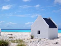 Slave Hut. Beautifull back view of a slave hut in Bonaire, Netherlands Antilles Royalty Free Stock Photography