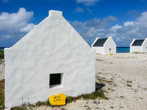 Slave Hut. S sheltered those who worked in the saltpans on bonaire,,Dutch caribbean Island Royalty Free Stock Images