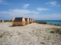 Slave huts Bonaire Stock Photography