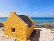 Slave huts on Bonaire Royalty Free Stock Image