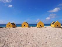 Slave huts on Bonaire Royalty Free Stock Photo