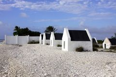 Slave huts on Bonaire. Slave huts built in 1850 for the slaves on the island of Bonaire royalty free stock images