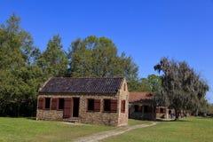 Slave Quarters at Boone Hall Plantation in South Carolina. CHARLESTON SOUTH CAROLINA April 1, 2011: The slave quarters at Boone Hall Plantation House in Mount stock photos