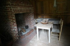 Slave quarters. With fireplace on a farm in North Carolina Stock Photos