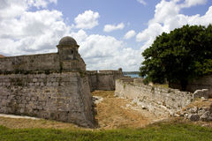 Slave Route Museum in Matanzas and the clouds, Cuba Royalty Free Stock Images