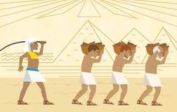 Slaven in Egypte stock afbeelding