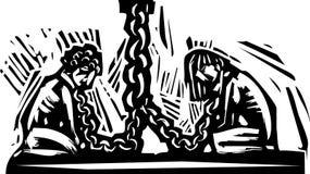 slaveri royaltyfri illustrationer