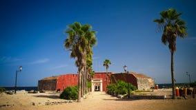 Slaverifästning på den Goree ön, Dakar, Senegal royaltyfri fotografi