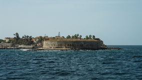 Slavery fortress on Goree island royalty free stock photography