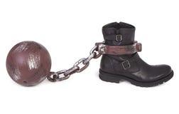 Slavery metaphor Royalty Free Stock Images