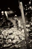 Slavery. Monochrome toned Stock Photos