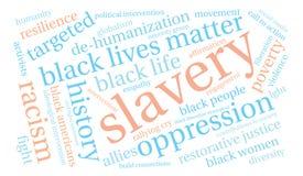 Slavery Word Cloud Royalty Free Stock Photos