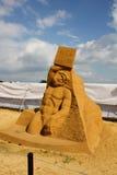 "Slaves. Author (Czech Republic) Radek Zivny. KOLOMENSKOYE,MOSCOW,RUSSIA-JULY 10, 2011:""Masterpieces of Italian culture"" Exhibition of sand sculptures. Slaves Stock Photo"
