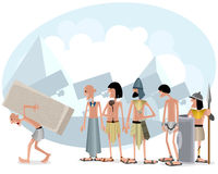 Slaves and masters. Vector illustration of a slaves and masters Royalty Free Stock Image