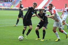 Slavia Πράγα εναντίον της Βικτωρία Plzen Στοκ Φωτογραφία