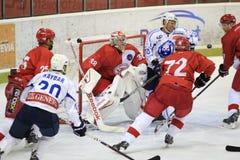 Slavia Πράγα εναντίον Medvescak Ζάγκρεμπ Στοκ εικόνες με δικαίωμα ελεύθερης χρήσης