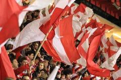 Slavia Prague fans Stock Photos