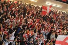 Slavia prague supporters Stock Photo