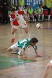 Slavia Prague vs. Bohemians Prague - futsal Stock Images