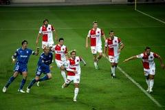 Slavia Prague vs. Brno football match Royalty Free Stock Image