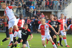 Slavia Prague vs. MFK Chrudim Royalty Free Stock Image