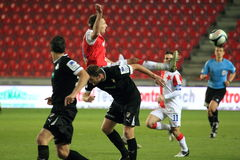 Slavia Prague vs. Viktoria Plzen Royalty Free Stock Images